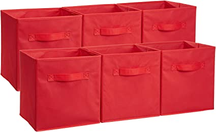 AmazonBasics Foldable Storage Cubes - 6-Pack Red  sc 1 st  Amazon.com & Amazon.com: AmazonBasics Foldable Storage Cubes - 6-Pack Red: Home ...