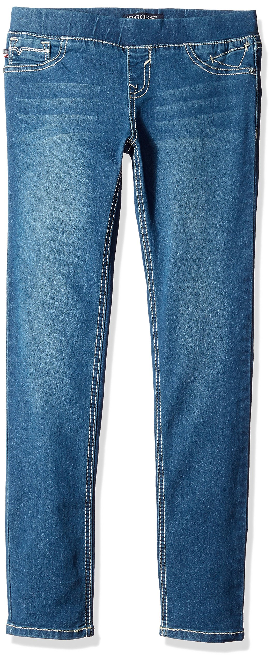 Vigoss Girls' Girls' 5 Pocket Classic Pull on Skinny Jean, Blueberry Cream, 4T