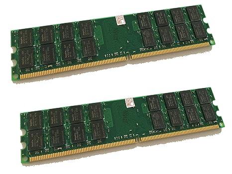8 GB DDR2 800 MHz – 2 x 4 GB Kit – PC2 – 6400 Memoria Memoria PC PC6400 240pin – Compatible con 533/667 MHz/para AMD y Via * No Compatible con Intel *