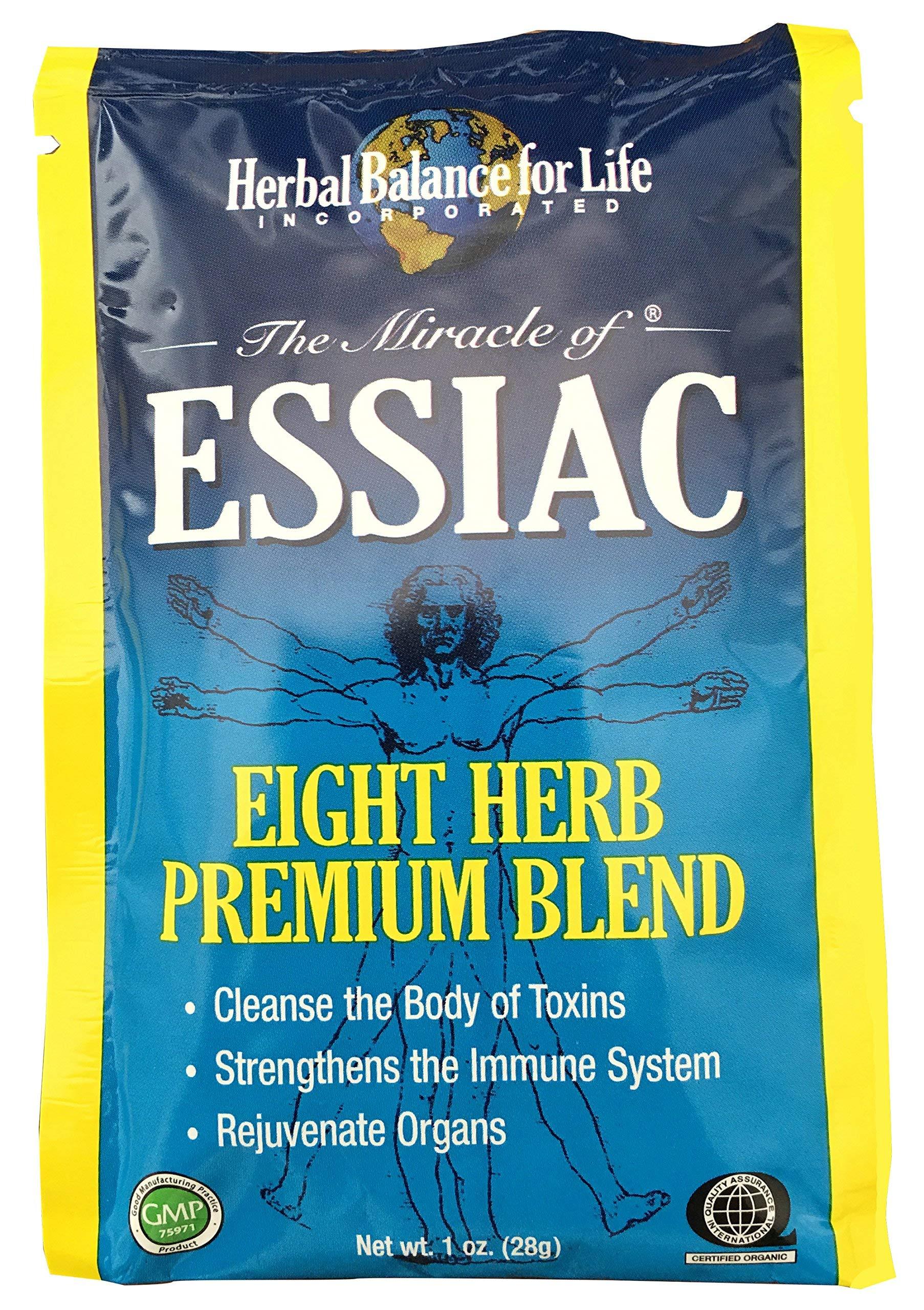 Essiac Tea, Eight Herb Upgraded Formula, Certified Organic Essiac, Certified by QAI, San Diego, 16-1 Oz. Packets Makes 16-1 Quart Bottles (4 Gal.) Essiac Tea!, 128 Day Supply