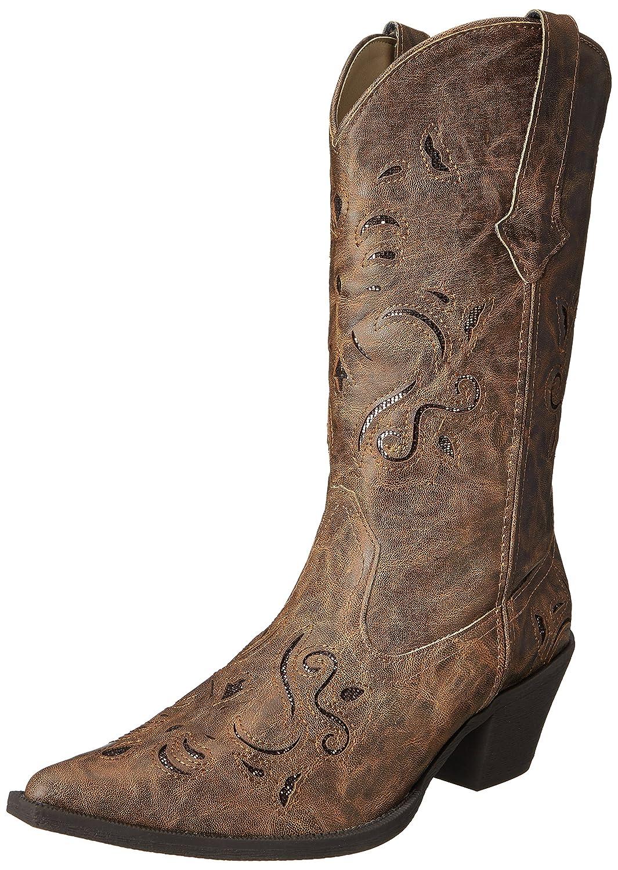 Roper Women's Snippy Glitter Western Boot B00E54NHZC 9 B(M) US|Tan