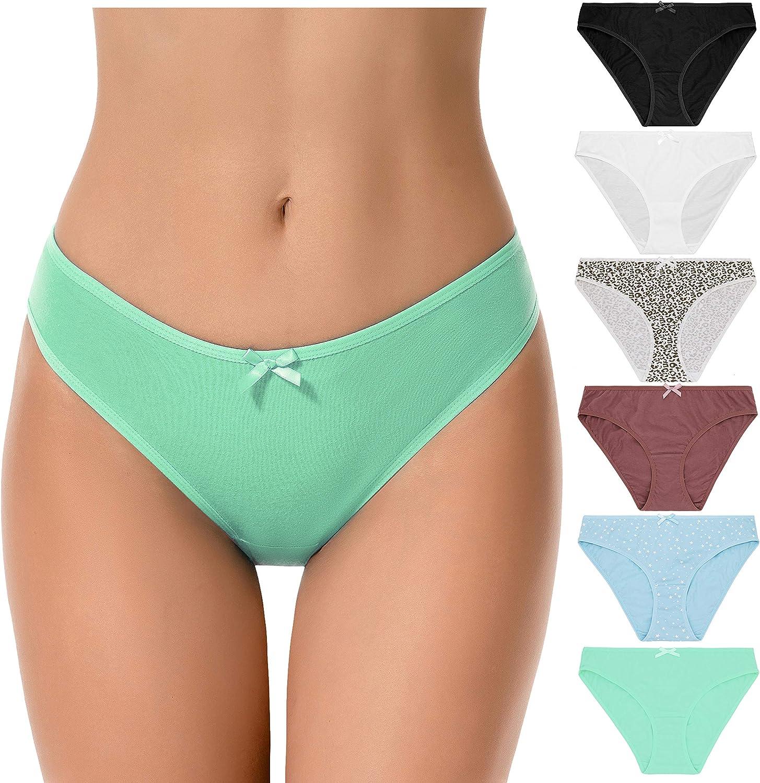 Curve Muse Calzoncillos de Bikini de algodón 100% de Talla Grande para Mujer Bragas Ropa Interior - Paquete de 6: Amazon.es: Ropa y accesorios