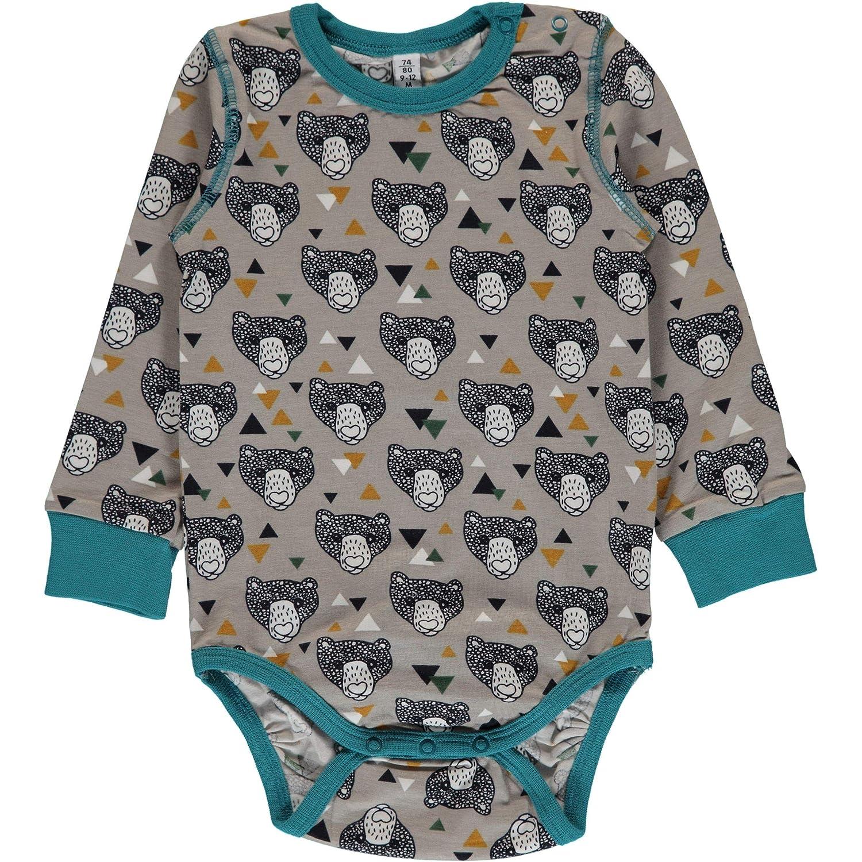 Maxomorra Plus Long Sleeved Body Vest - Grizzly Bear