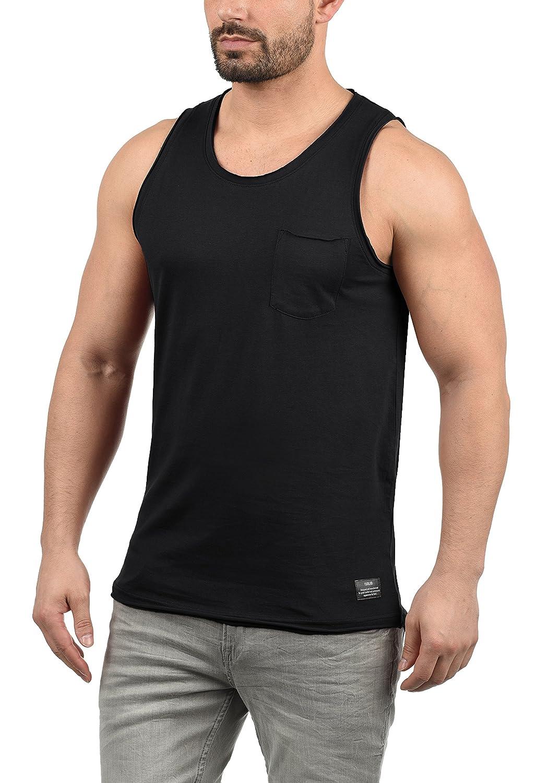!Solid Andrew T-Shirt Maglietta Senza Manica Canotta da Uomo con Girocollo in Cotone 100/%