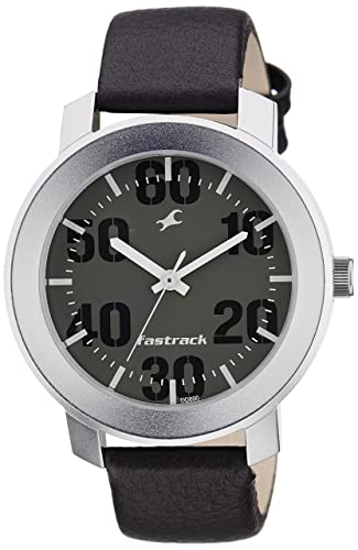 9. Fastrack Casual Analog Grey Dial Men's Watch -NK3121SL02