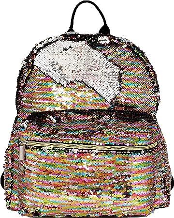 c175de3c4fd Amazon.com   BG-709-MS-MP41 Medium Magic Sequin Backpack - Pastel  Rainbow Silver   Kids  Backpacks