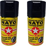 2 Dosen Pfefferspray 40ml NATO OC Pfeffer KO Spray Selbstverteiligung Abwehrspray MADE IN GERMANY