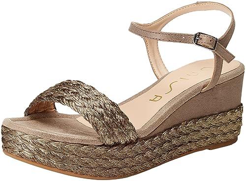 Unisa Katia_18_MTS, Alpargata para Mujer, Dorado (Paladium), 41 EU: Amazon.es: Zapatos y complementos
