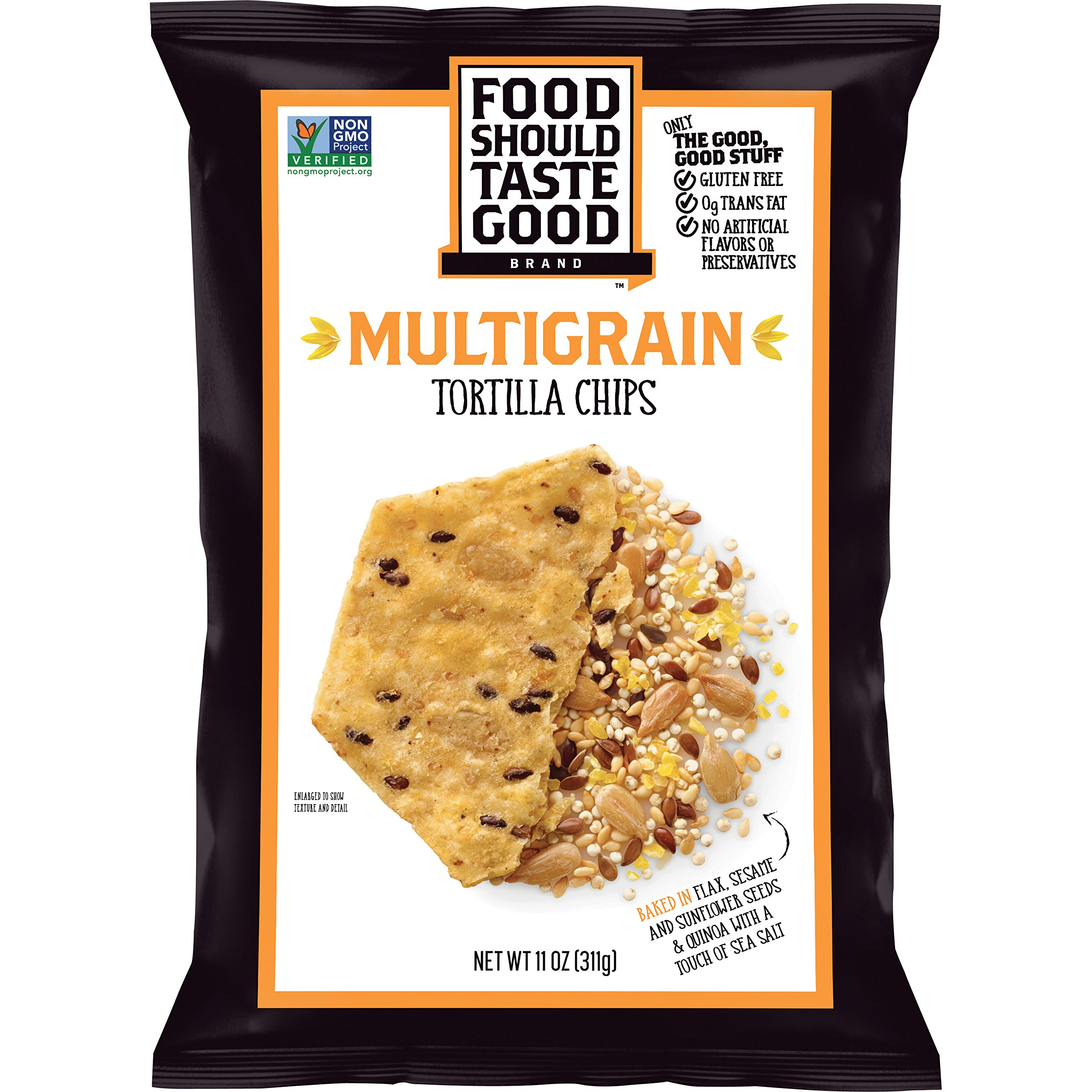 Food Should Taste Good, Tortilla Chips, Multigrain, Gluten Free Chips, 11 oz