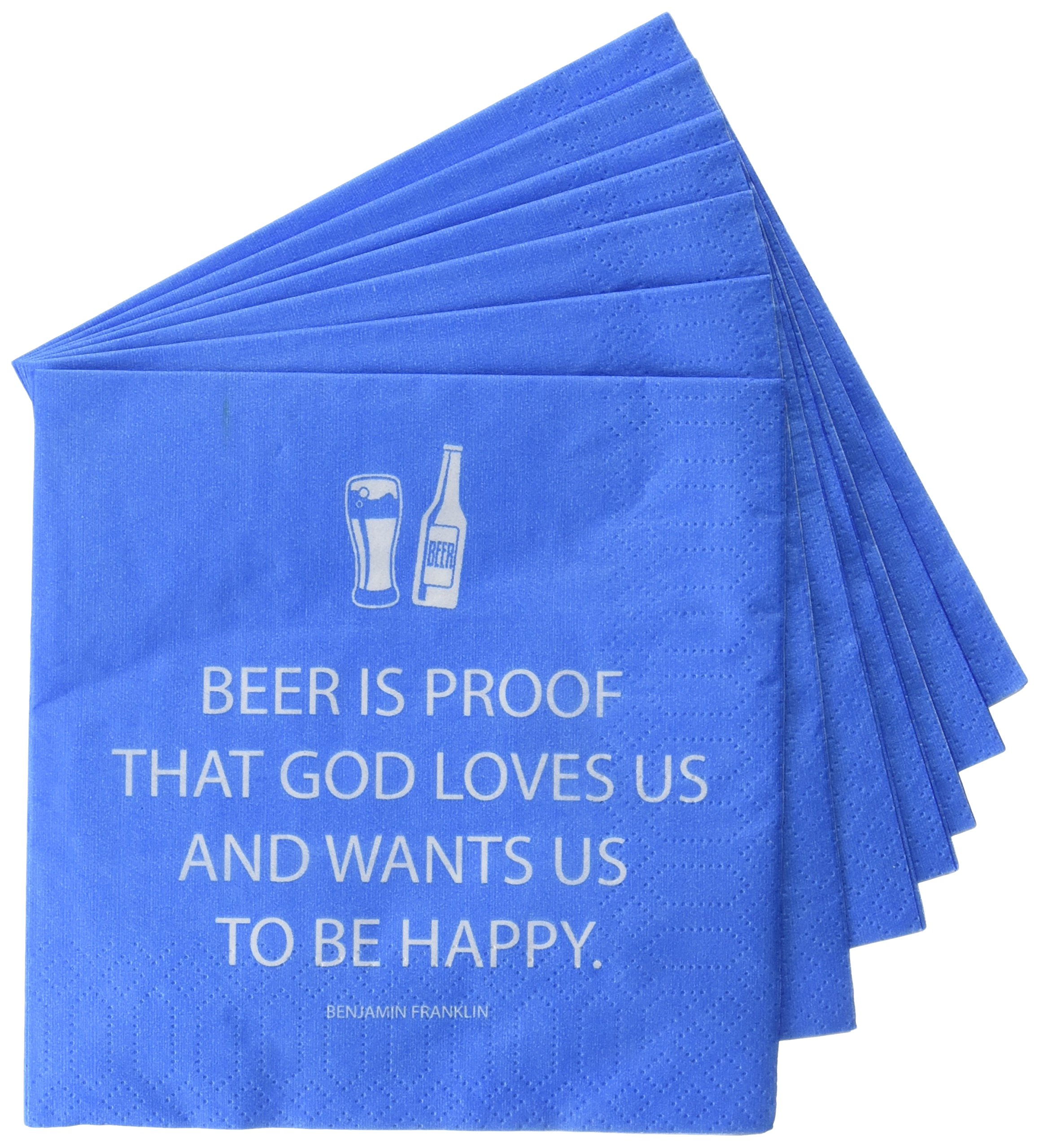 Paperproducts Design Paper Napkins (20 Pack), Beer is Proof That God Loves Us, Multicolor by Paperproducts Design (Image #1)