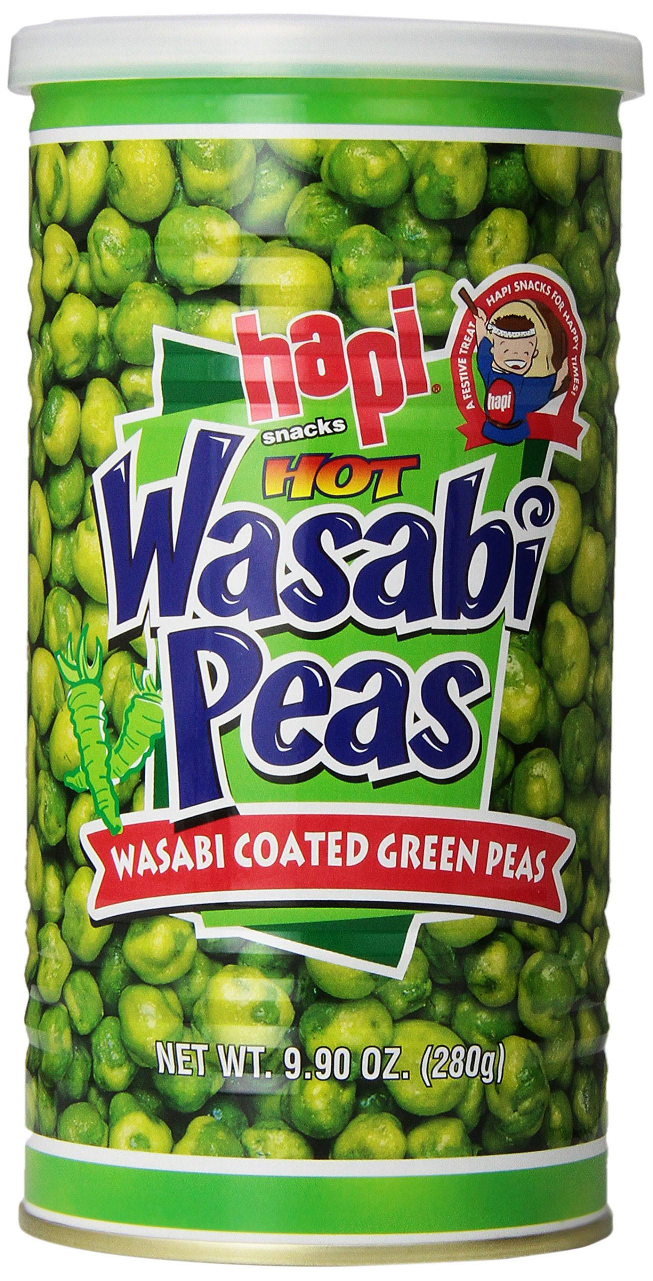 Hapi Snacks Hot Wasabi Peas 9.90oz by HAPI (Image #1)