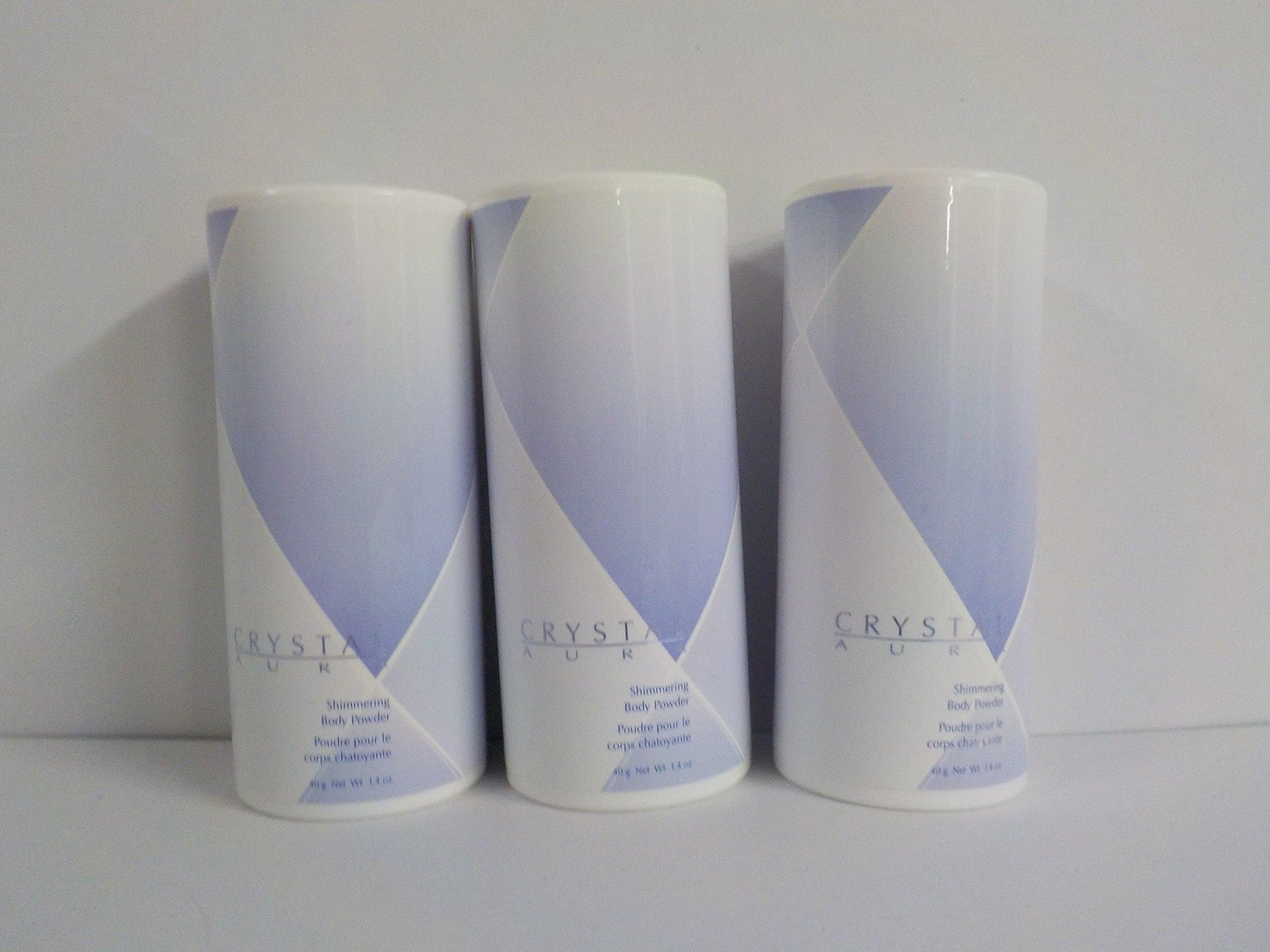 Avon Crystal Aura Shimering Body Powder 1.4 Oz. ( Lot of 3 )