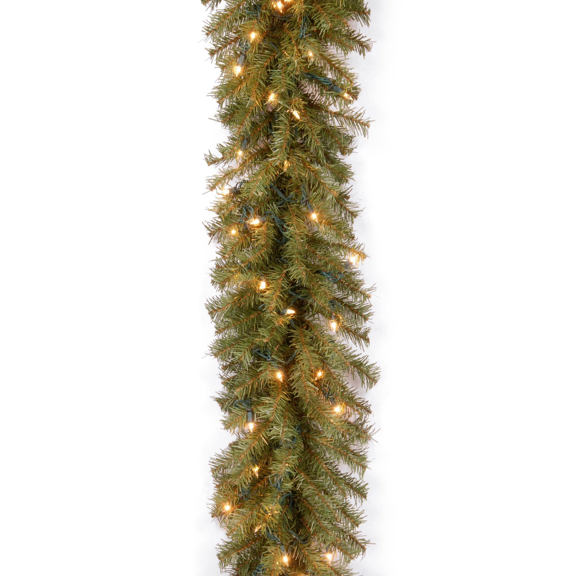 National Tree 9 Foot by 10 Inch Norwood Fir Garland with 50 Clear Lights (NF-9ALO-1)