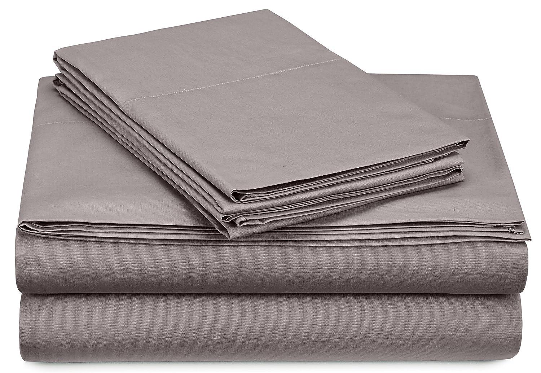 Pinzon 300-Thread-Count Percale Sheet Set - Twin Extra-Long, Platinum PC-SS-PLT-TXL