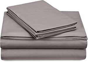 Pinzon 300 Thread Count Percale Cotton Sheet Set - California King, Platinum