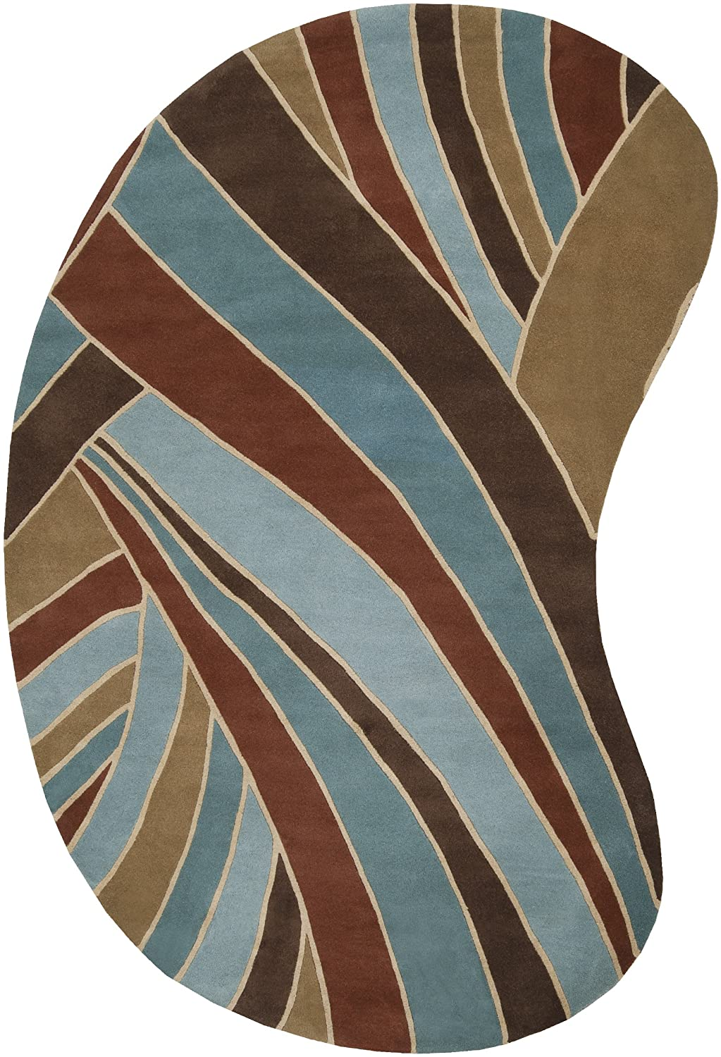 Amazon.com: Surya Forum FM-7002 Contemporary Hand Tufted 100% Wool ... - Amazon.com: Surya Forum FM-7002 Contemporary Hand Tufted 100% Wool Russet  5' x 8' Abstract Area Rug: Kitchen & Dining