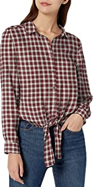 Amazon Brand - Goodthreads Women's Modal Twill Tie-Front Shirt