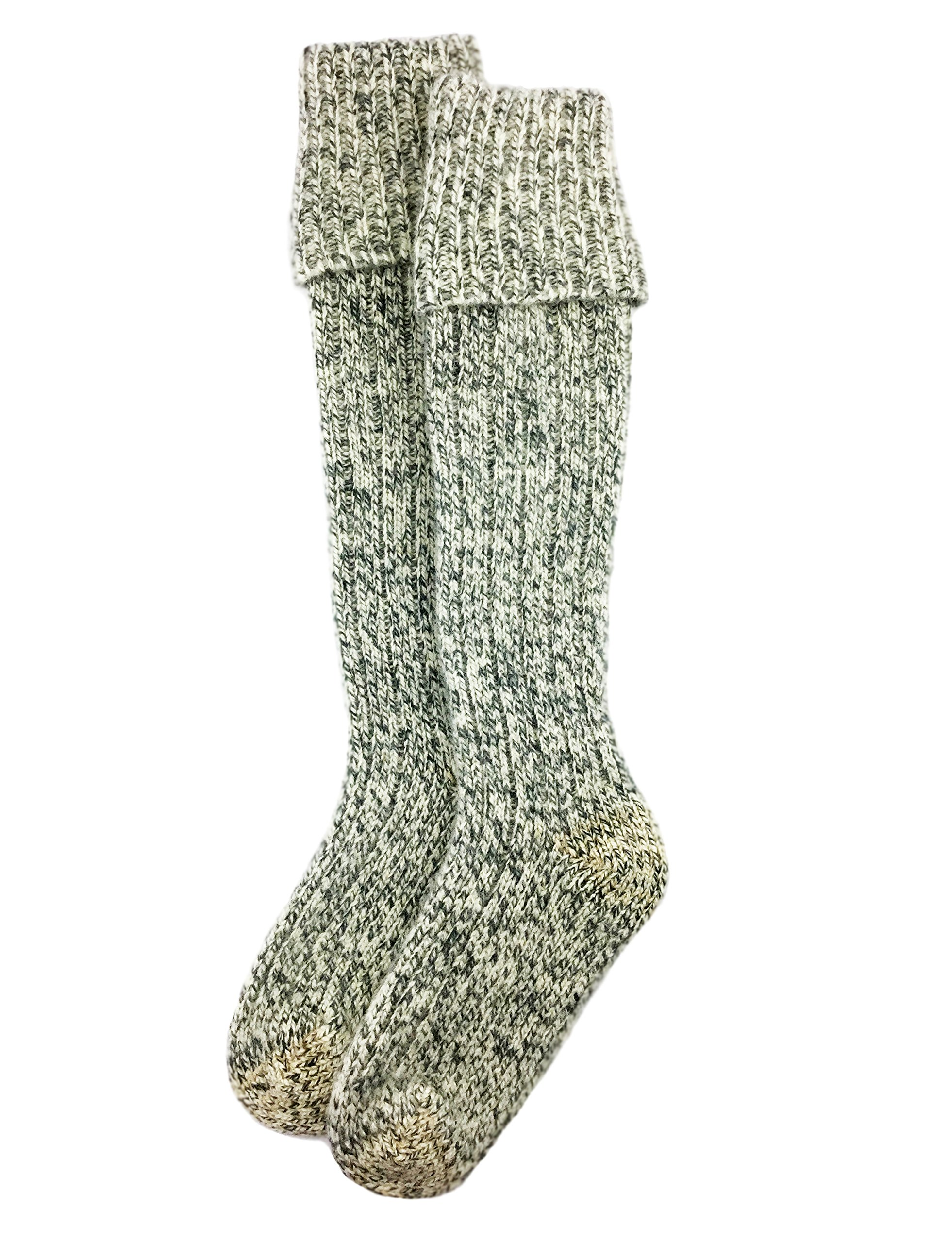 Dachstein Woolwear Over the Knee Austrian Wool Socks (13, Grey) by Dachstein Woolwear