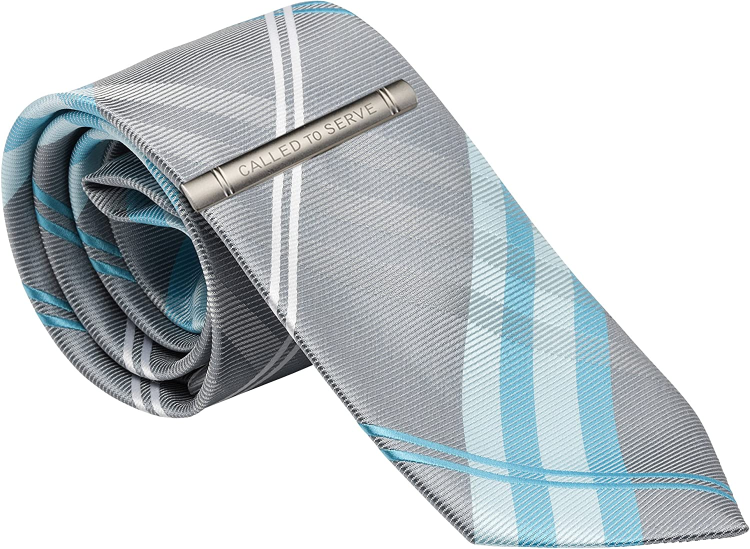 "Mens Tie and""Called to Serve"" Tie Clip for LDS Missionary, 58"""