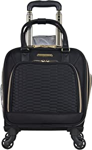 "Aimee Kestenberg Women's Florence 16"" Polyester Twill 4-Wheel Underseater Carry-on Luggage, Black"