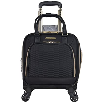 136763d5f Aimee Kestenberg Florence Collection 4-Wheel Under-Seat / Carry-On (Black):  Amazon.co.uk: Clothing