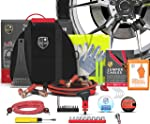 2-in-1 Emergency Roadside Car Assistance with Premium First Aid Kit (348-Piece):