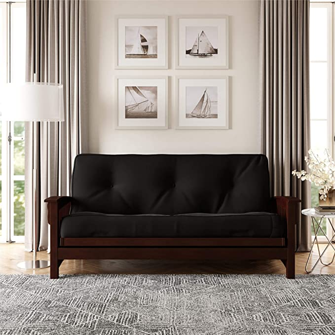 Amazon Com Dhp 8 Inch Independently Encased Coil Futon Mattress Full Size Black Frame Not Included Furniture Decor