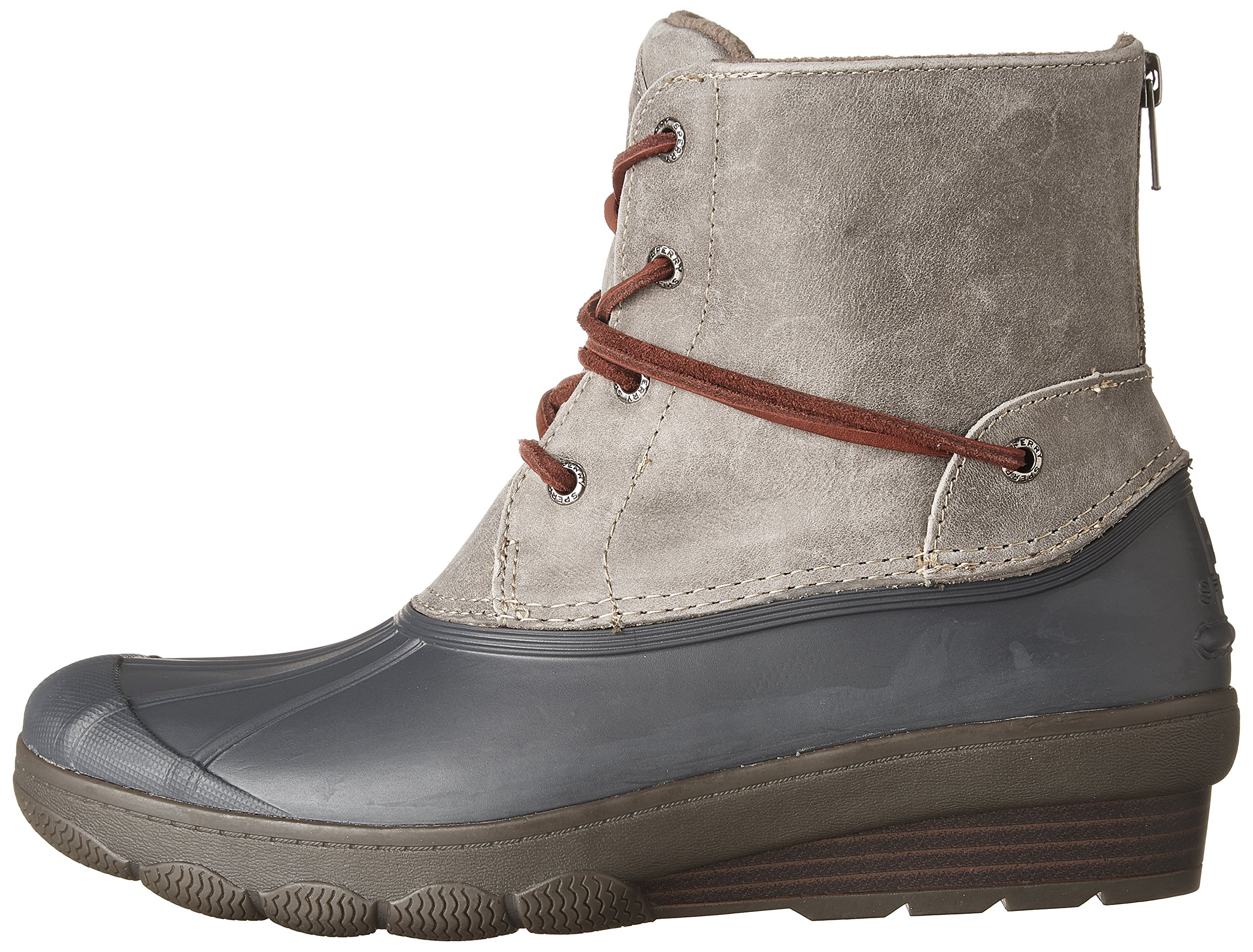 Sperry Top-Sider Women's Saltwater Wedge Tide Rain Boot, Grey, 8 Medium US by Sperry Top-Sider (Image #5)