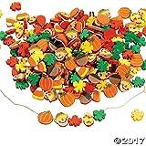 500 Fabulous Foam Thanksgiving Harvest Mix Bead Assortment - Turkey Fall Leaves Pumpkin Art & Craft Supplies & Kids' Beading Supplies by FE