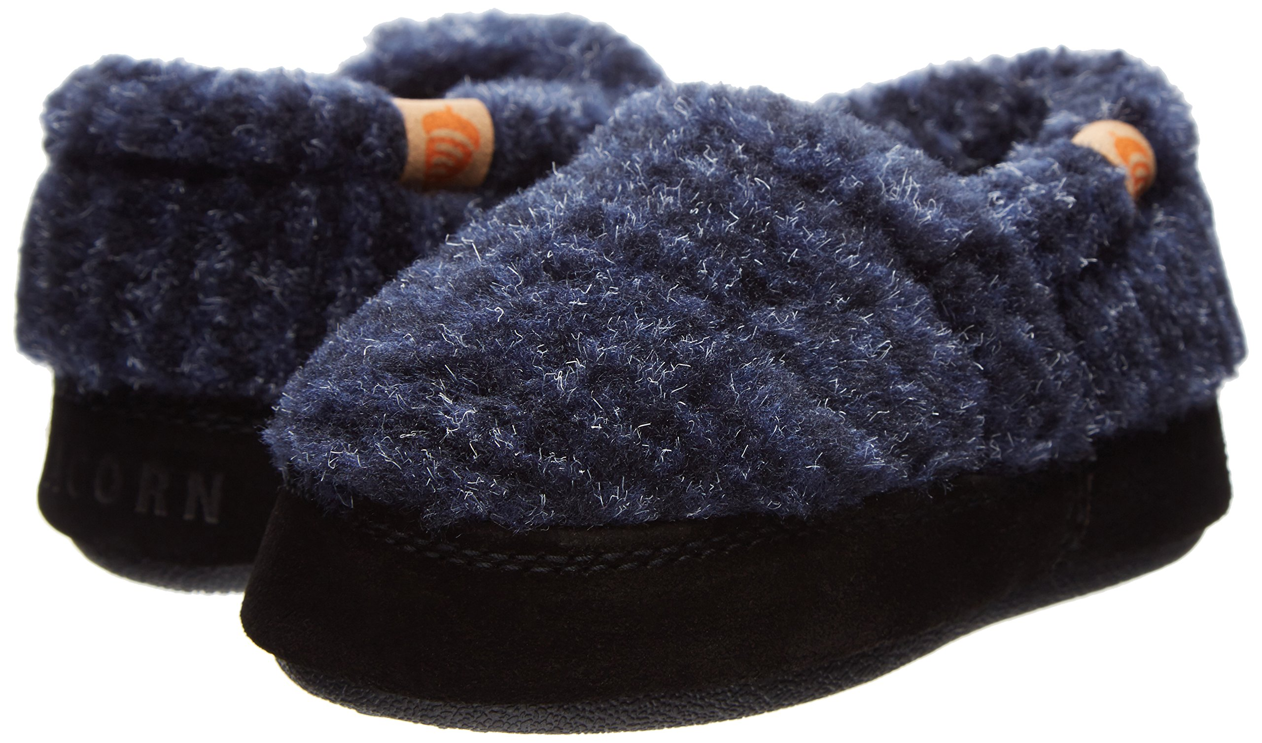Acorn Kid S Acorn Moc Slipper Blue Check