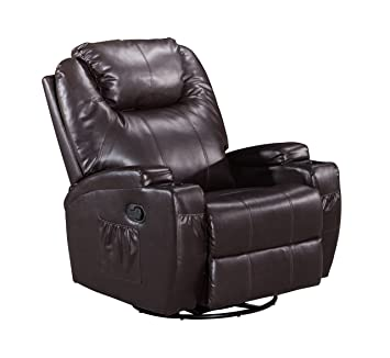 Frivity Massage Rocker Swivel Recliner Chair Classic Heating Vibrating Bonded Leather Reclining Chair 1  sc 1 st  Amazon.com & Amazon.com: Frivity Massage Rocker Swivel Recliner Chair Classic ...