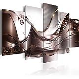 Cuadro en Lienzo 200x100 cm - 3 tres colores a elegir - 5 Partes - Formato Grande - Impresion en calidad fotografica - Cuadro en lienzo tejido-no tejido - abstraccion flores a-A-0004-b-p 200x100 cm B&D XXL