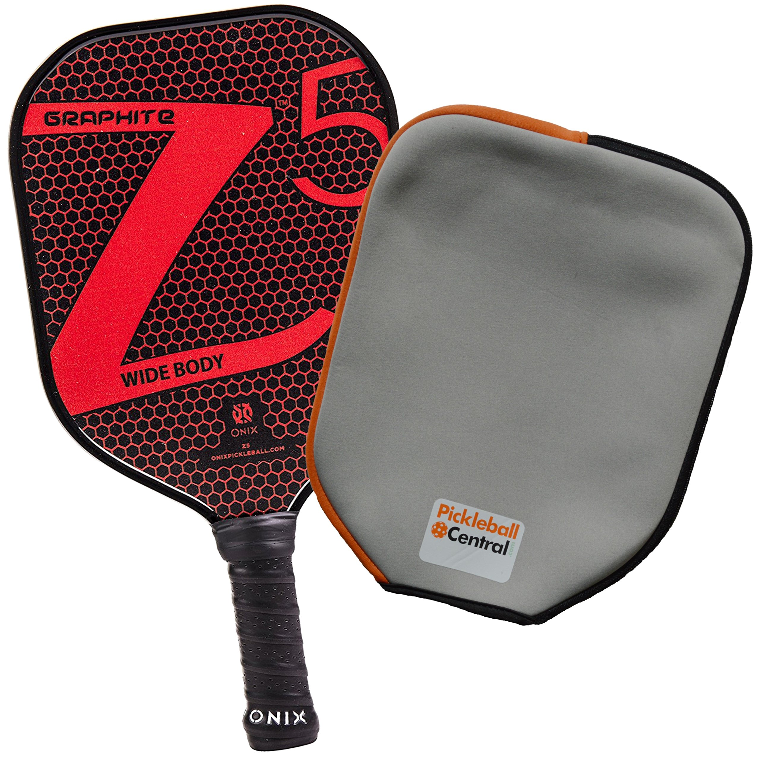 Onix Z5 Graphite Pickleball Paddle and Paddle Cover (Red) by Onix