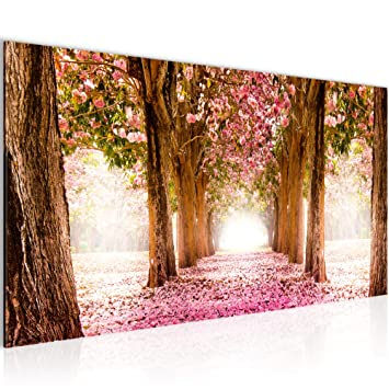 Bilder Wald Landschaft Wandbild 100 x 40 cm Vlies - Leinwand Bild ...