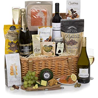 The Luxury Food Hamper - Deluxe Family and Traditional Gift Baskets - Large Food, Wine