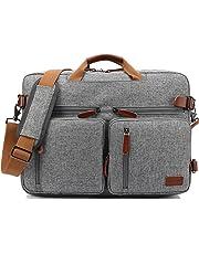 CoolBELL Convertible Backpack Messenger Bag Shoulder Bag Laptop Case Handbag Business Briefcase Multi-Functional Travel Rucksack Fits 15.6 Inch Laptop for Men/Women (Grey)