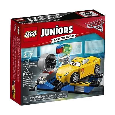 LEGO Juniors Cruz Ramirez Race Simulator 10731 Building Kit: Toys & Games