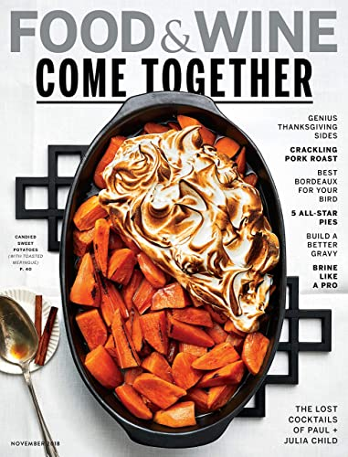 Image result for food and wine magazine november 2018