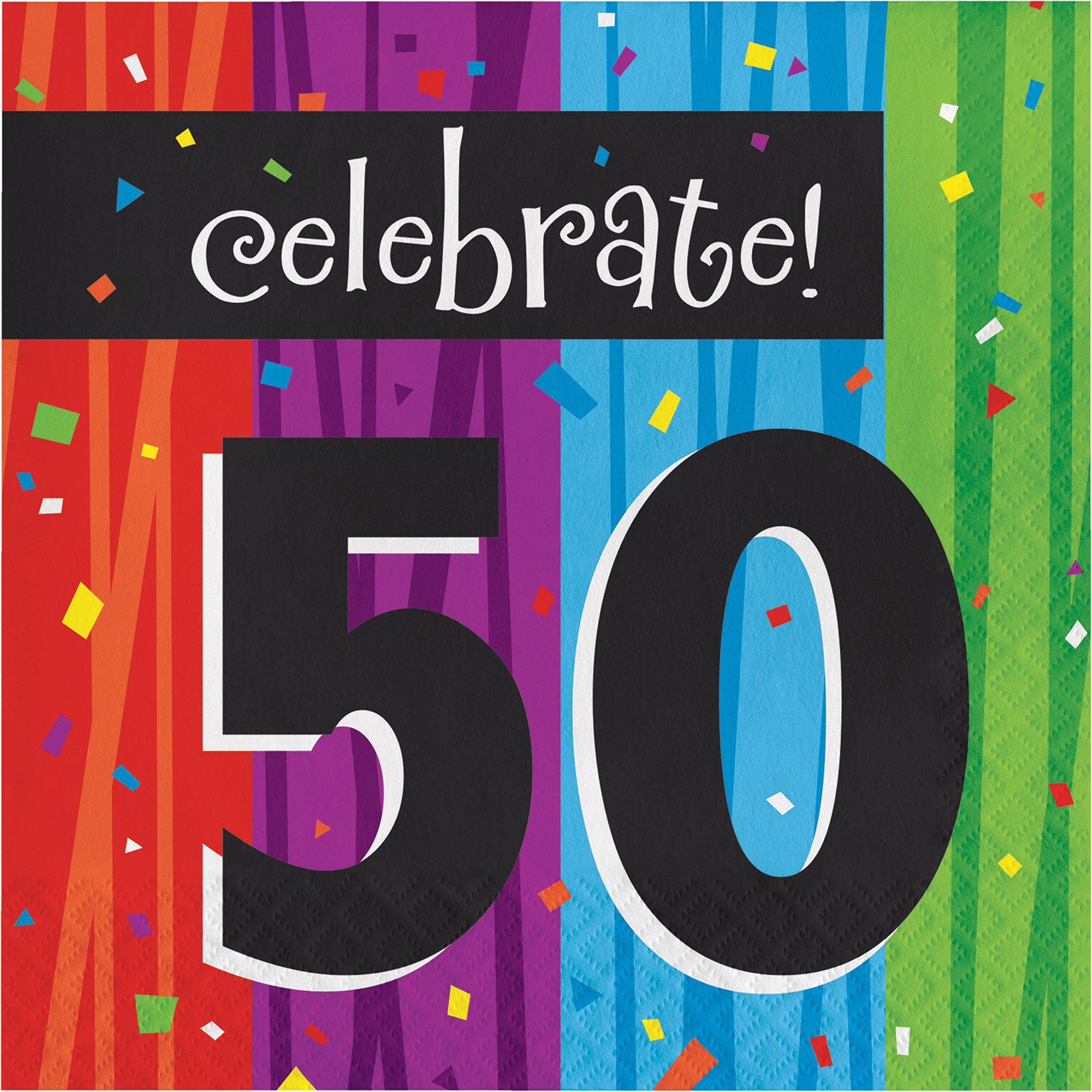 Milestone Celebrations 50th Birthday Napkins, 48 ct by Creative Converting