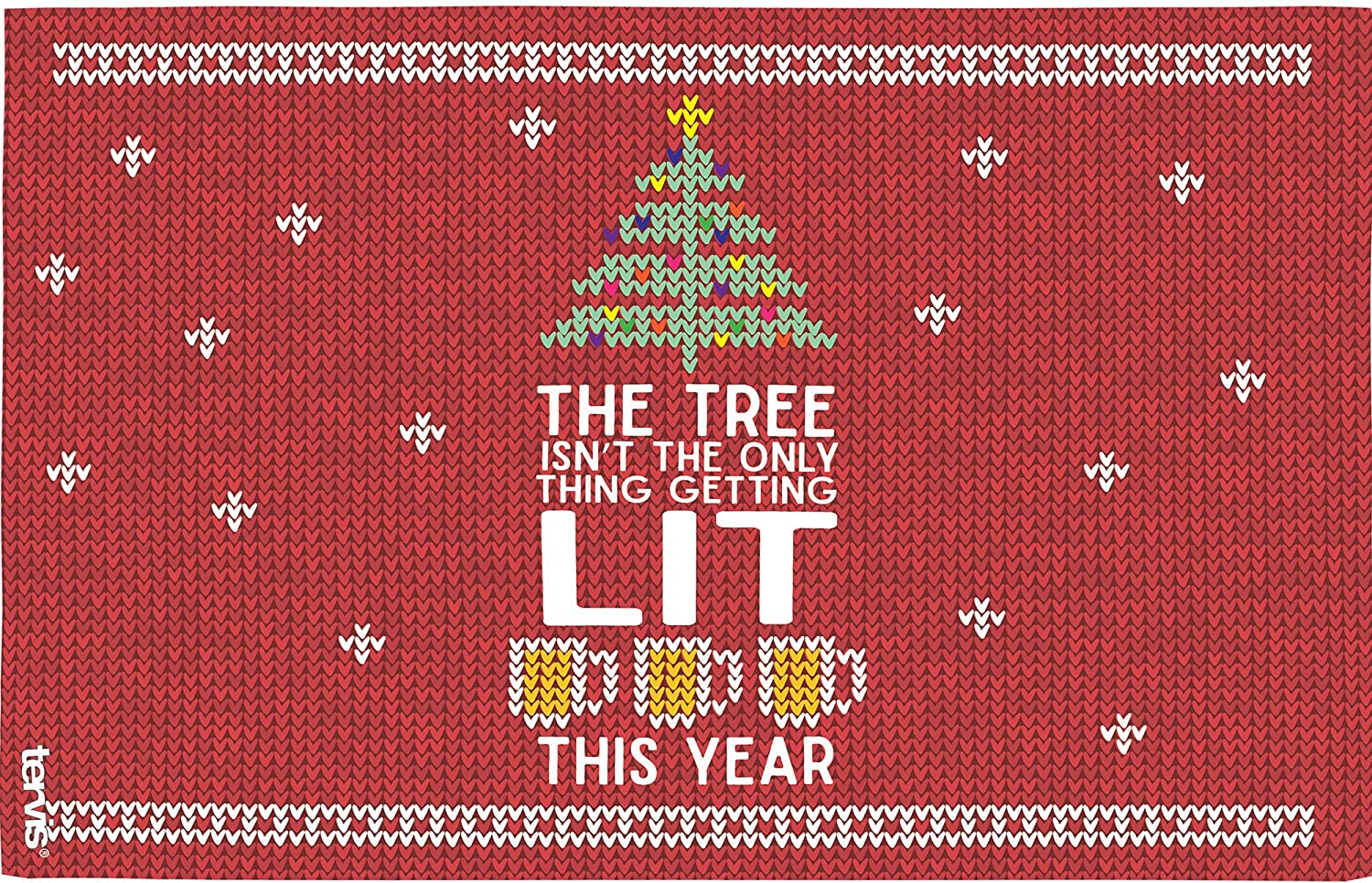 Tervis 1272329 Lit Tumbler with Lid spirited design lets friends and family know what youve planned for Christmas vacation this fun Inspired by ugly holiday sweaters Red