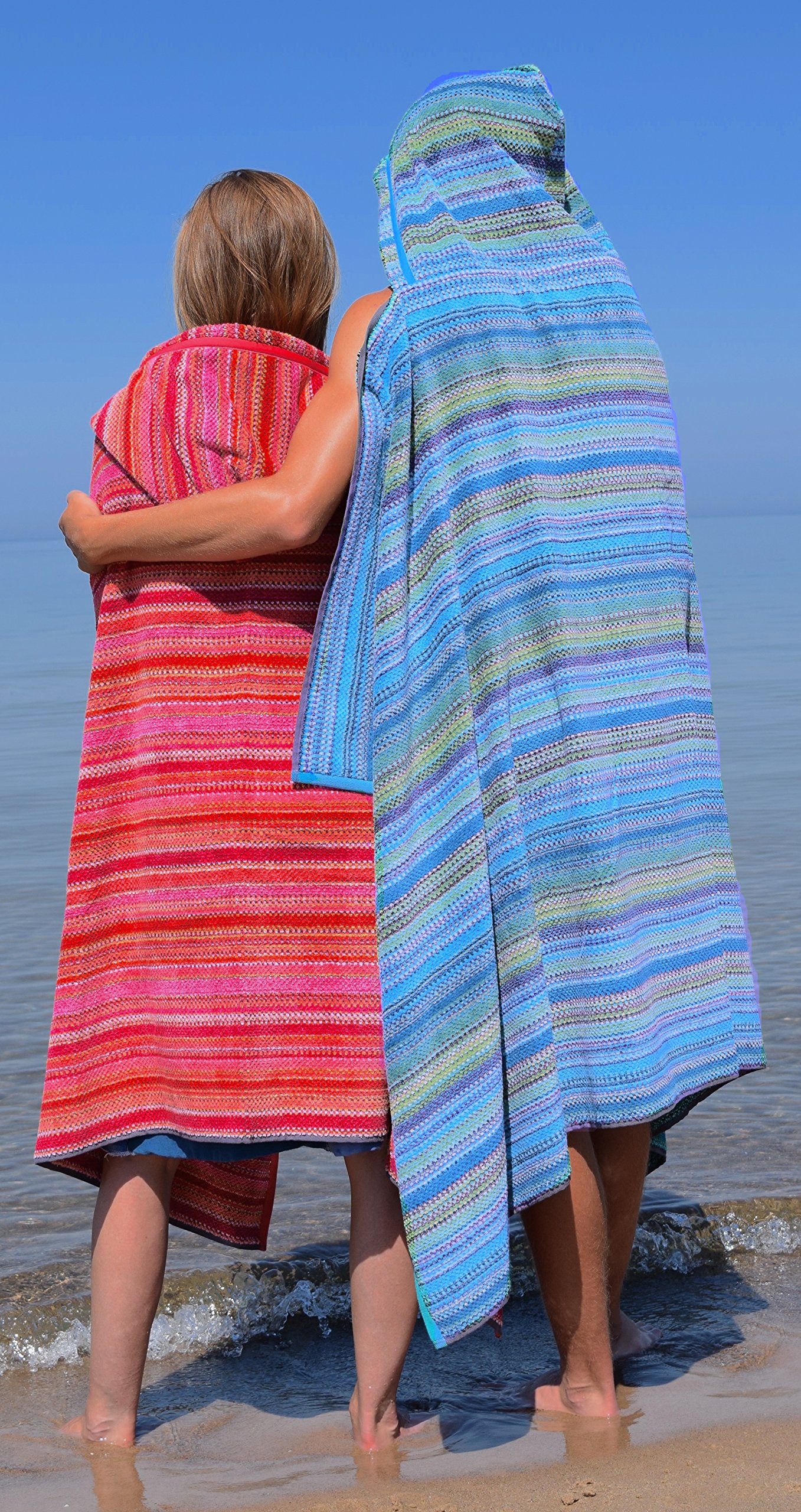 Sunset Hot Hooded Beach Towel for Adults and Teens (Large 70''x40'') by Towelhoodies.com (Image #3)