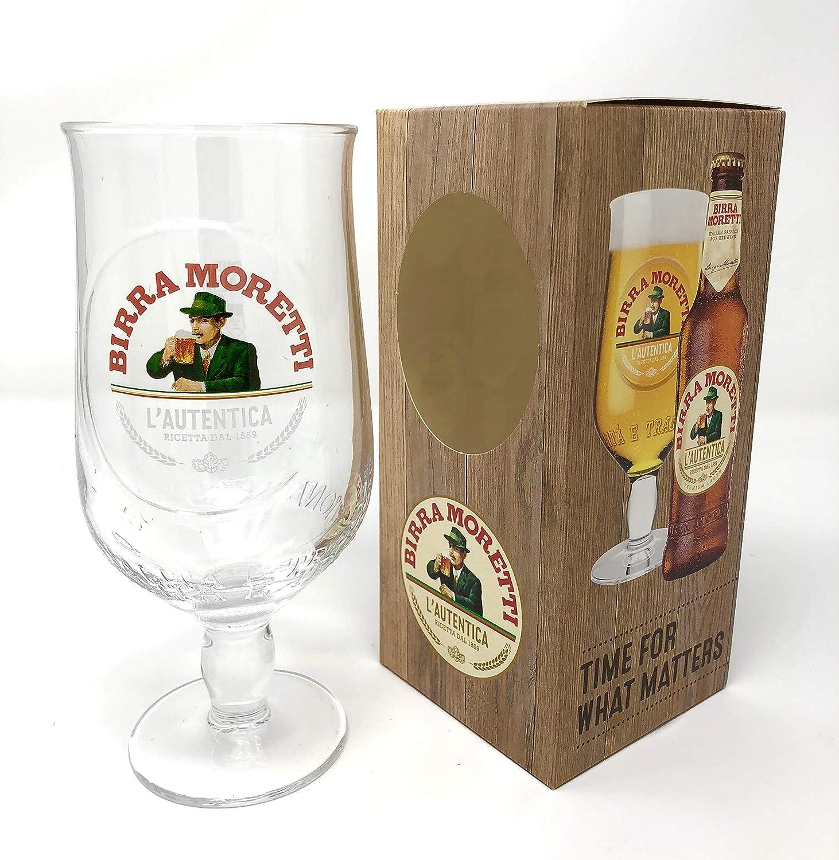 Birra Moretti Pint Glass 20oz (1 Glass) - Gift Boxed - from GarageBar