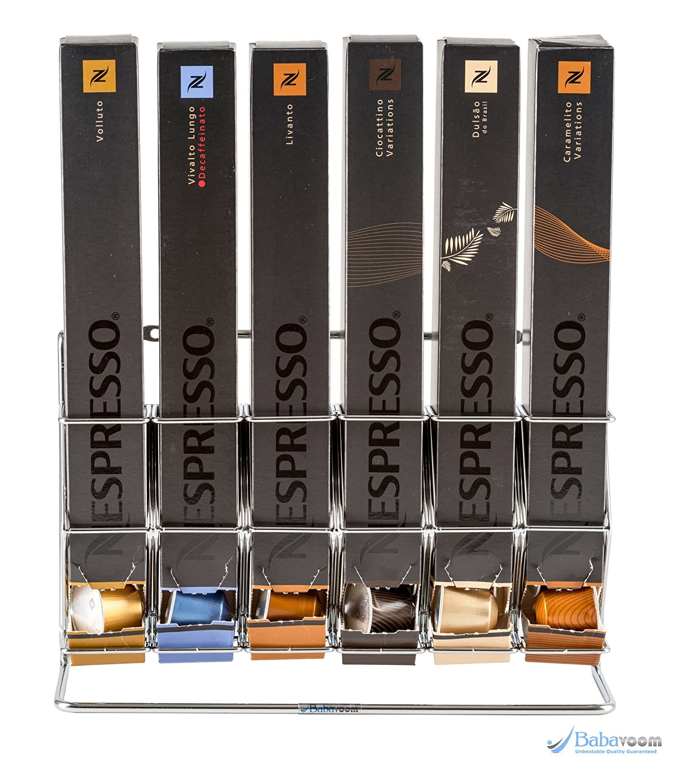 Nespresso Capsule Holder Free Standing or Wall Mountable Stand Rack   Stores 60 Nespresso Pods Boxes KRUPS   Unbeatable Quality Guaranteed Babavoom® N6