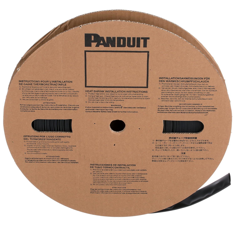 Image of Panduit HSTT05-M Thin Wall Polyolefin Heat Shrink, 0.05-Inch, Black Bulk Cables