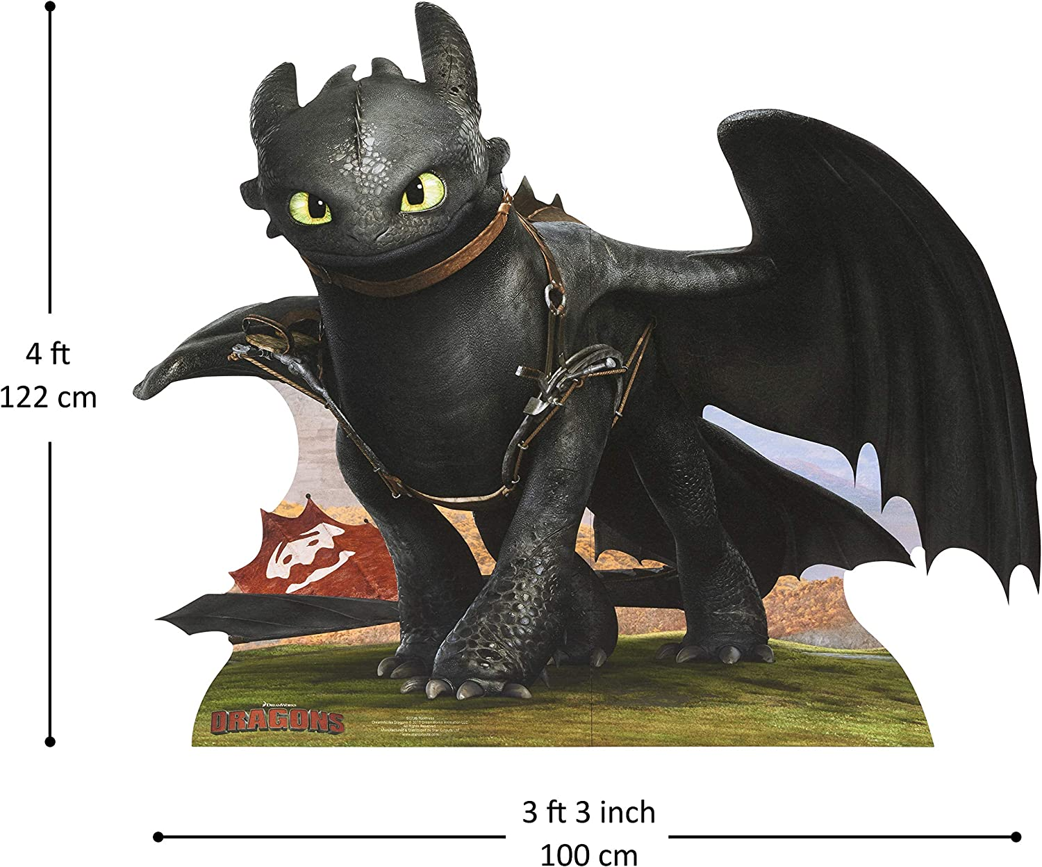 Amazon Com Star Cutouts Toothless Of How To Train Your Dragon Cardboard Cutout Standee Toys Games
