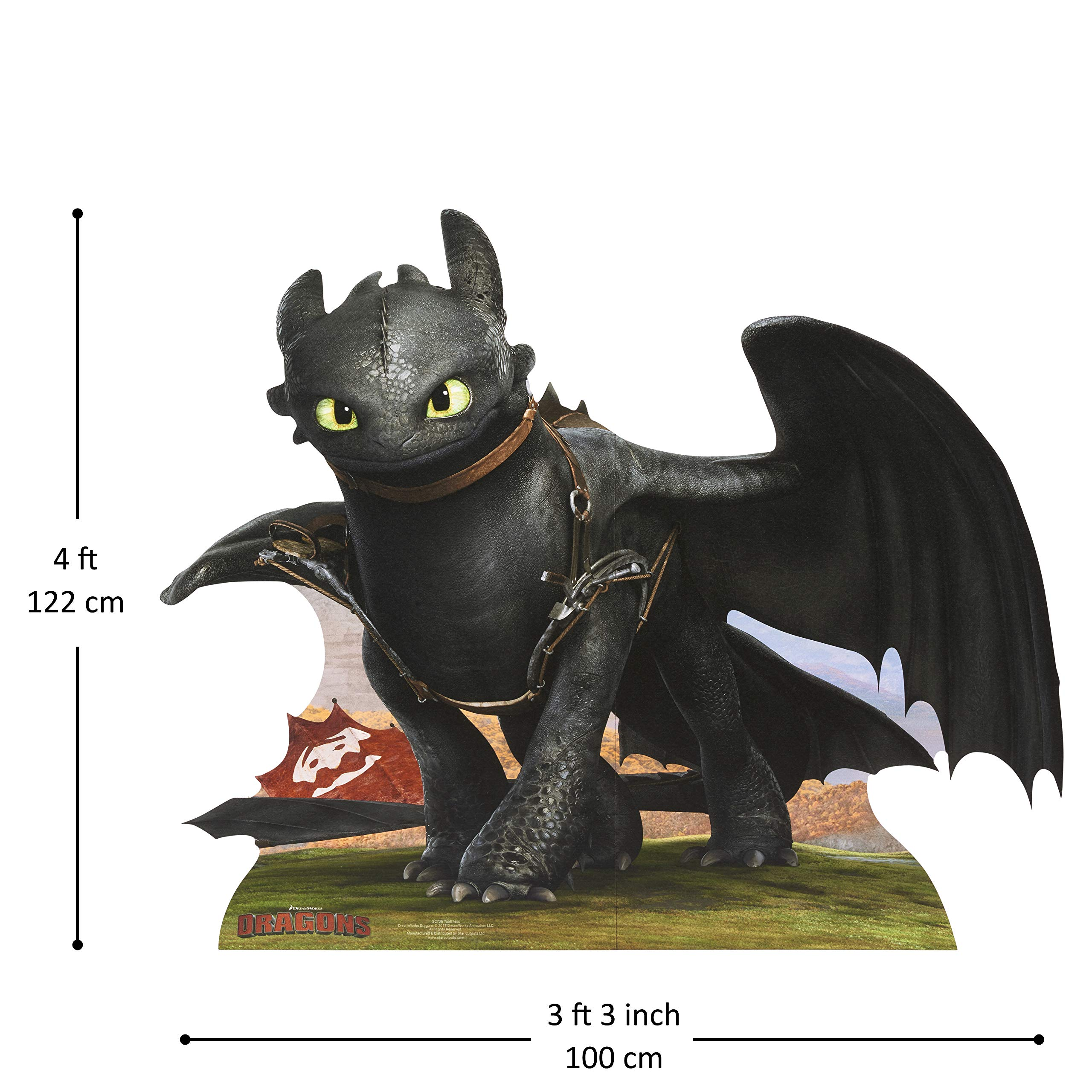 How to Train Your Dragon Life Size Cutout of Toothless The Dragon by DreamWorks How to Train Your Dragon
