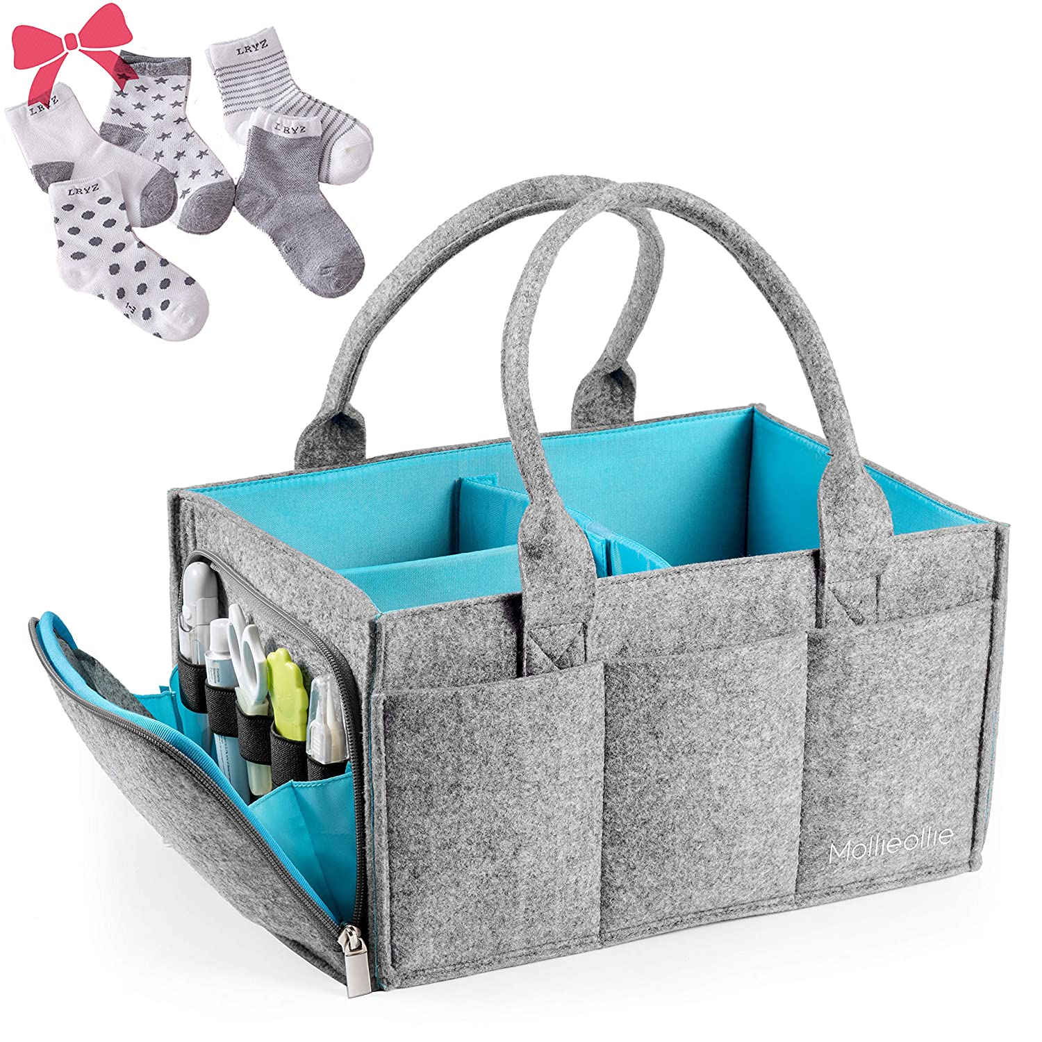 The Premium Baby Diaper Caddy Organizer travel product recommended by Ivy Teo on Lifney.
