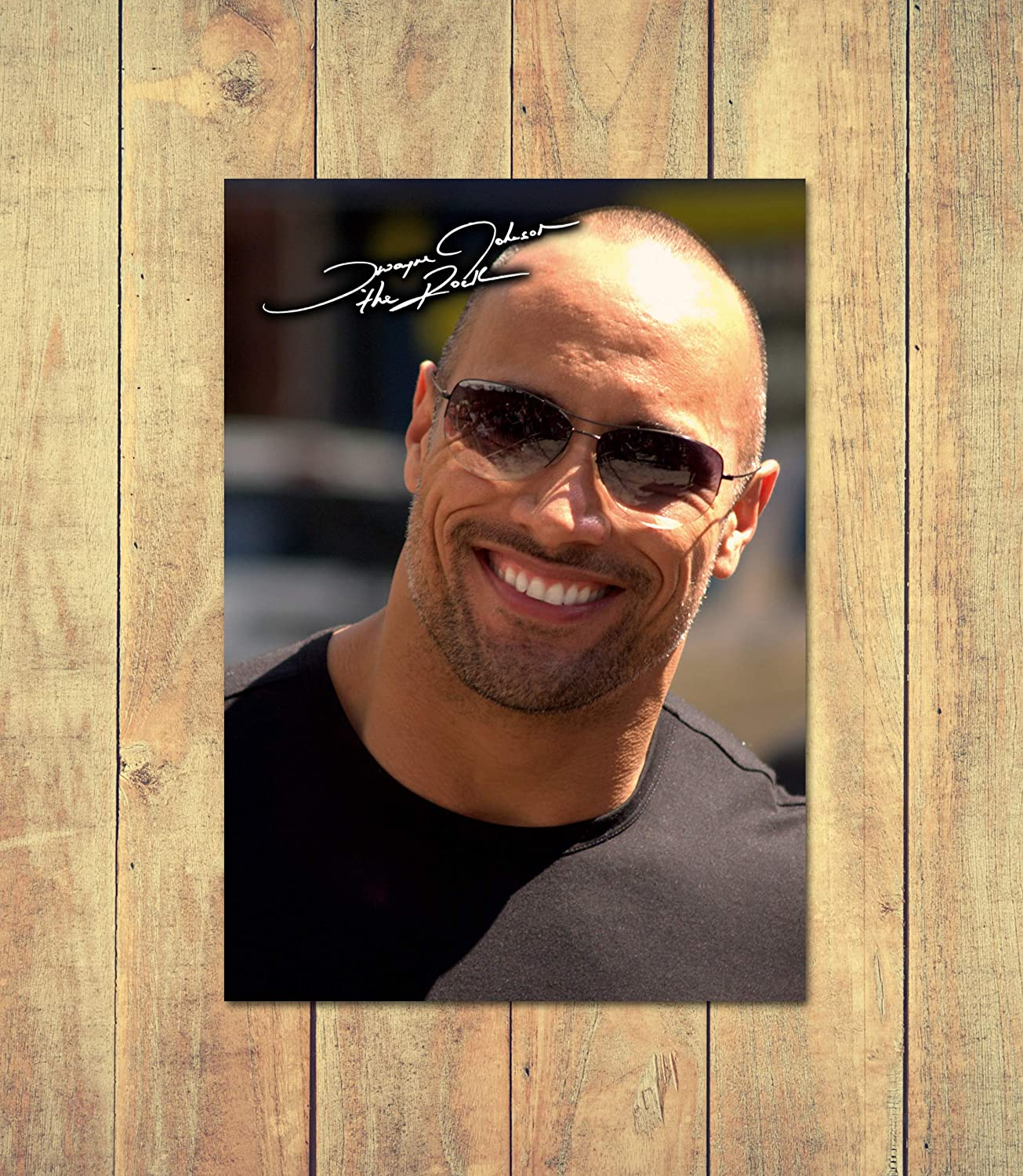 Personalised 210 x 297 mm The Rock 1 Dwayne Johnson High Gloss Printed Poster A4