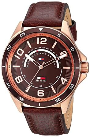 a6fb1eb4e Tommy Hilfiger Casual Watch For Men Analog Leather - 1791392: Amazon.ae