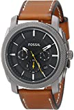 Fossil Men's FS4951 Machine Stainless Steel Watch with Tan Leather Band